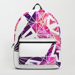 Metatron's Cube Time Wheel ~ Space Lily Backpack