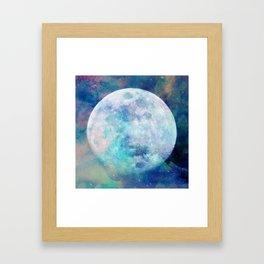 Moon + Stars Framed Art Print