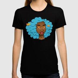 Bright blue Edda • Powerful Black Girl Magic T-shirt