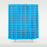 bicycles Shower Curtains featuring Tropical Bicycles by Amanda Roof