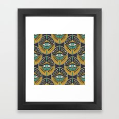 Tribal Evil Eye Pattern Framed Art Print