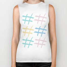 Hashtag pastel palette Biker Tank