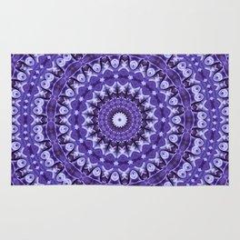 Kaleidoscope Purple Silk Rug