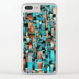 emerald and copper Clear iPhone Case
