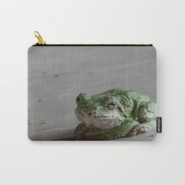 Smirking Grey Tree Frog Carry-All Pouch