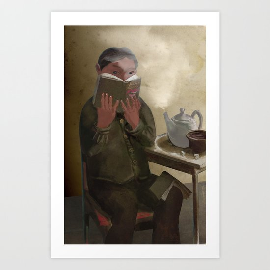 The Keeker in a Teahouse Art Print