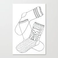 socks Canvas Prints featuring Socks.  by novacaeli