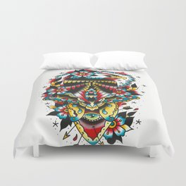 Eagle and eyes Duvet Cover