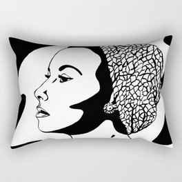 50's Lady (black and white version) Rectangular Pillow