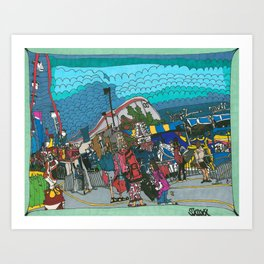 Midway Magic - The Calgary Stampede Art Print