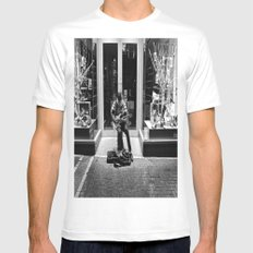 Street Solo Mens Fitted Tee White MEDIUM