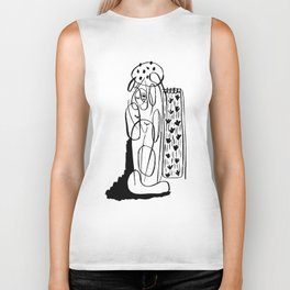 Woman in a shower Biker Tank