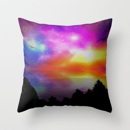 Fluorescent Nights Throw Pillow