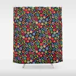 dp065-8 floral pattern Shower Curtain