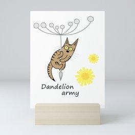 Dandelion army Mini Art Print