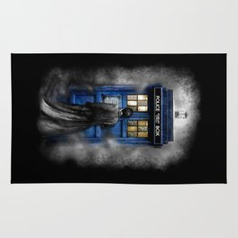 Tardis doctor who lost in the Mist apple iPhone 4 4s 5 5s 5c, ipod, ipad, pillow case and tshirt Rug