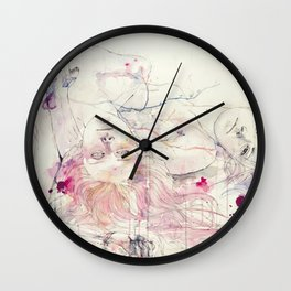 in bloom, each growing petal is an internal wound Wall Clock