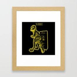 Electric Warriosaurus Framed Art Print