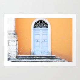 172. The Blue Door, Rome Art Print