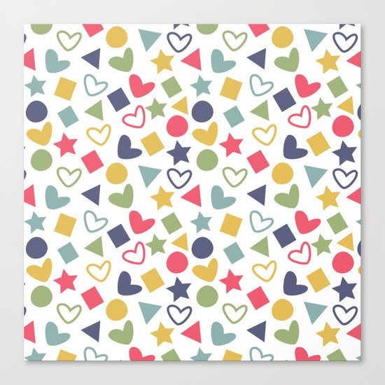 Colorful Lovely Pattern Canvas Print