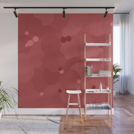 Dusty Cedar Bubble Dot Color Accent Wall Mural