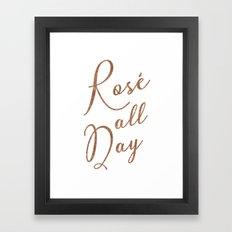 Rosé All Day Framed Art Print