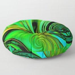 Curls Deluxe Green Floor Pillow