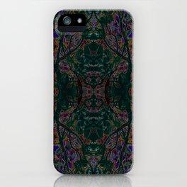 Emerald tree geometry VIII iPhone Case