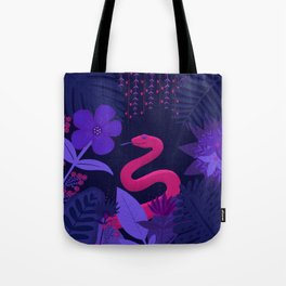 Snake in the Jungle Tote Bag