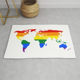 LGBT World Map Rug