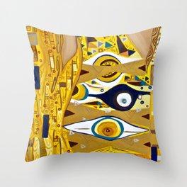 Ode to Klimt - Detail Portrait of Adele Throw Pillow
