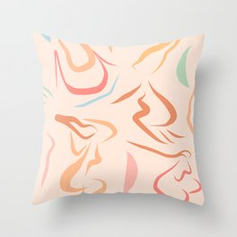Body Love - line drawing Pattern #Matisse Throw Pillow