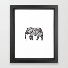 Elephant geometric, bishop grey, home decor, Graphicdesign Framed Art Print