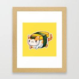 Sushi Cat Framed Art Print