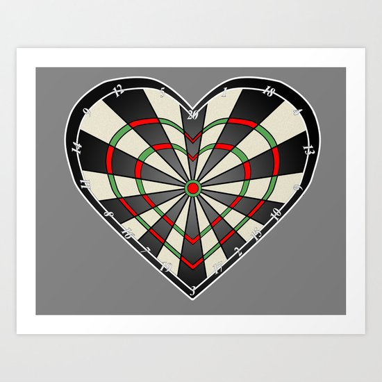Don't use my heart as a Dartboard Art Print