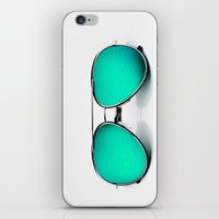 sunglasses iPhone & iPod Skins featuring SUNGLASSES by Ylenia Pizzetti
