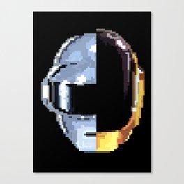 Daft Punk Pixelated Canvas Print