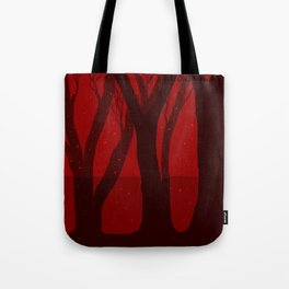 Magical Forest in RED Tote Bag