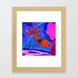 Robotic Fish Framed Art Print