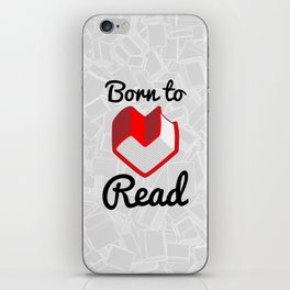 Born to Read II iPhone Skin