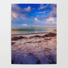 City Pier on Anna Maria Island Poster