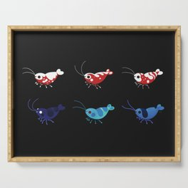 Red and blue shrimp Serving Tray