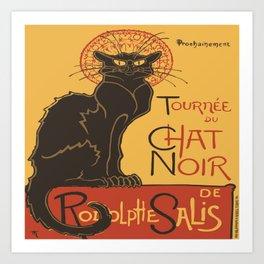 Tournee du Chat Noir De Rodolphe Salis Vector Art Print
