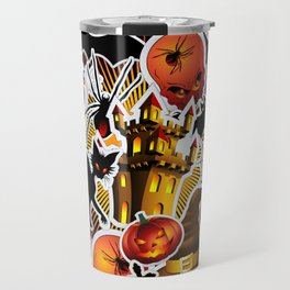 Halloween Spooky Cartoon Saga Travel Mug