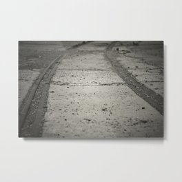 Old Tram Rail Metal Print