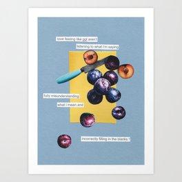 nice plums Art Print