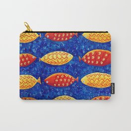 Red and Yellow Fish Carry-All Pouch