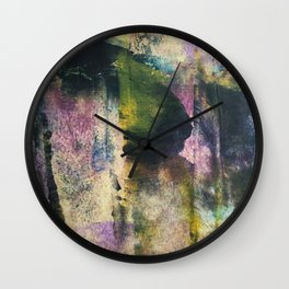 Trick or treat, the lady with a mask Wall Clock
