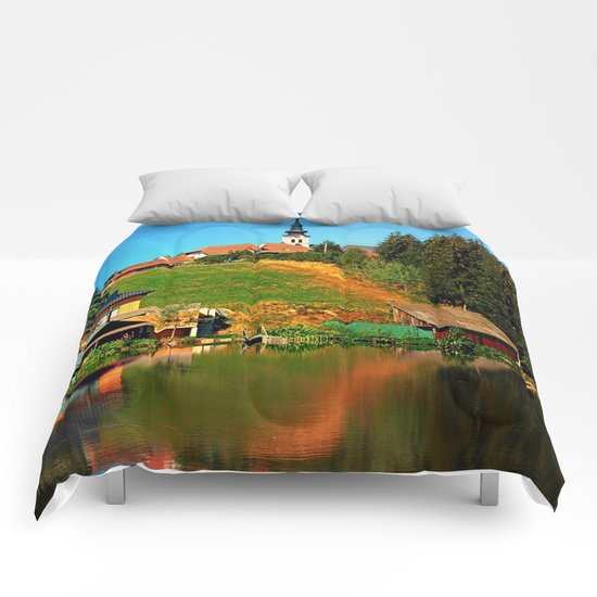 A village in the mirror Comforters