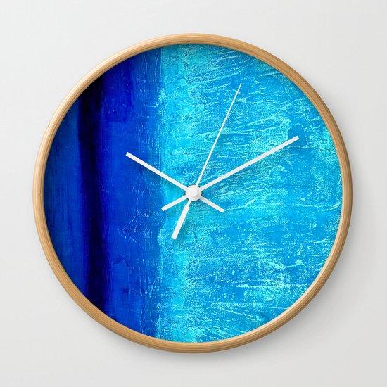 Blue Serenity Wall Clock